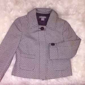 Ann Taylor black and white fitted blazer